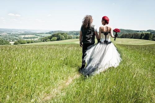 Sweet future by Martin Zenisek - Wedding Bride & Groom ( outdoor photography, color, pair, woman, outdoor, bride and groom, landscape, bride, groom, man,  )