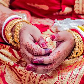 by Arijit Banerjee - Wedding Details ( bride, jewellery, bridal, bangles, mehendi, wedding, detail )