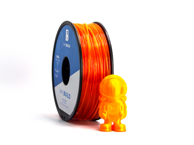 1 KG 1.75mm ORANGE, PLA Translucent 3D Printer Filament