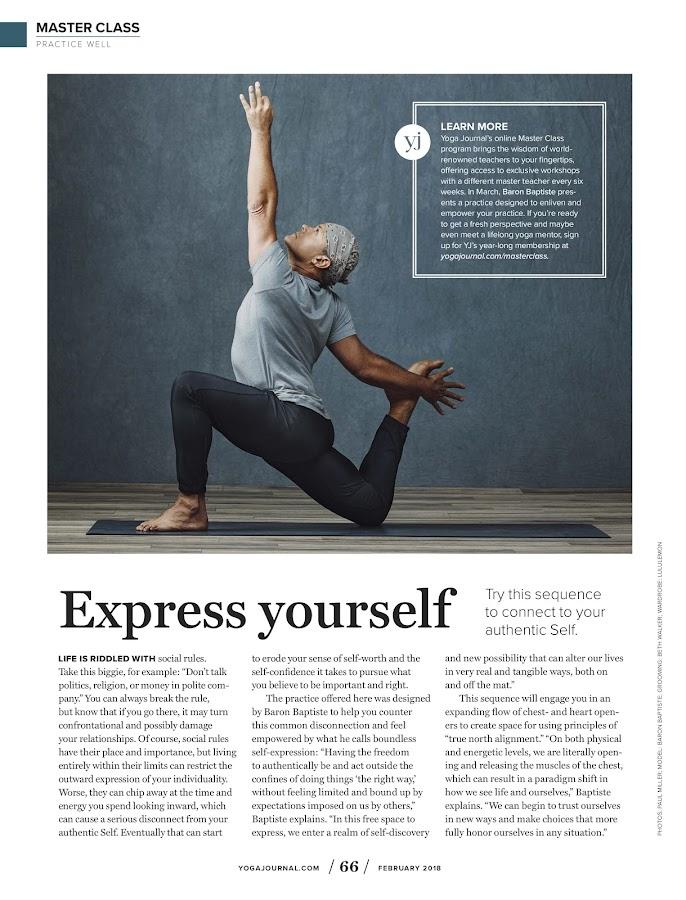 Yoga Journal- screenshot