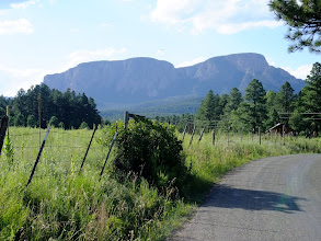 Photo: Hiking the road on the way to Hermit's Peak.