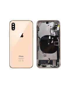 iPhone XS Housing with small parts Original Pulled Gold