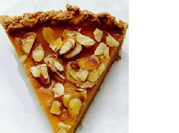 Amaretto Pumpkin Pie With Almond Praline Recipe