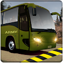 indian army bus driving: military truck mission icon