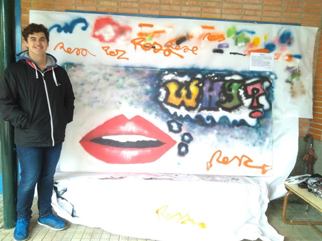 Fase final  del VII concurso de grafitis