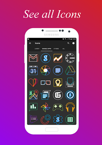 لالروبوت IconX - Icon Pack تطبيقات screenshot