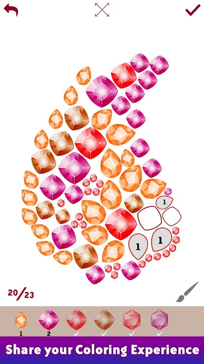Gems Art: Color by Number, Fashion Coloring Pages ...
