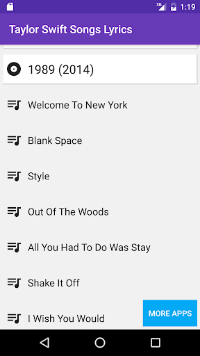 Download Taylor Swift Lyrics All Songs Google Play softwares