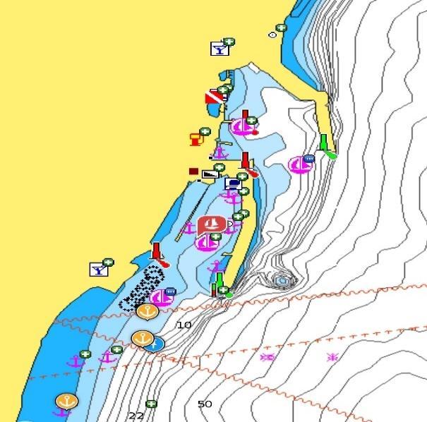 Nautical map Sailina