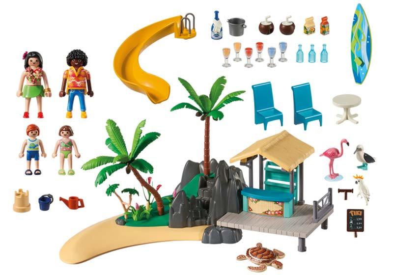 Contenido real de Playmobil® 6979 Isla Resort