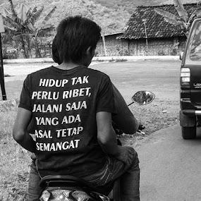 Life must go on by Sengkiu Pasaribu - People Street & Candids ( streetphotography, creativeidealism, bw_magazine )