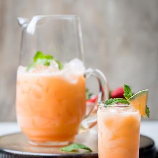 Melon and Strawberry Agua Fresca