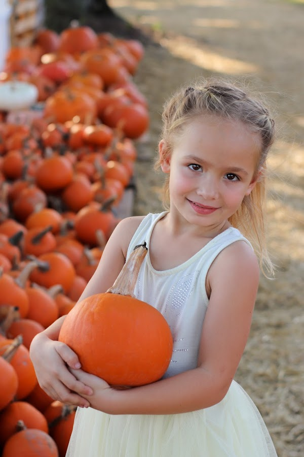 pumpkin patch by Asya Atanasova - Babies & Children Child Portraits ( outdoor, childhood, fall, children, autumn colors, pumpkin patch, autumn, girl, pumpkin, child )