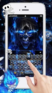 Blue Grim Reaper Keyboard Theme - náhled