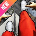 Parkour run simulator 3d: bunny hop, backflip go icon
