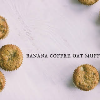 Banana Coffee Oat Muffins with Chocolate.