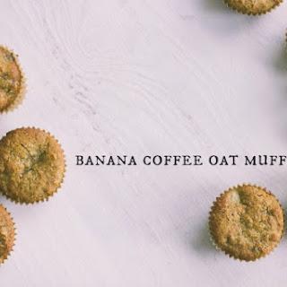 Banana Coffee Oat Muffins with Chocolate.