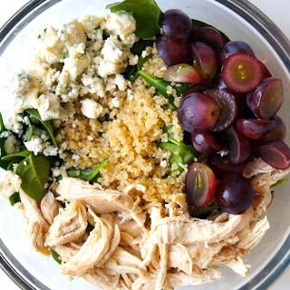 Quinoa, Spinach + Roasted Chicken Salad.