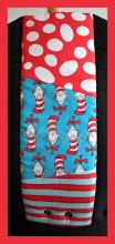 "Photo: ""Seuss""  customized Beco Gemini combined 3 fabrics"