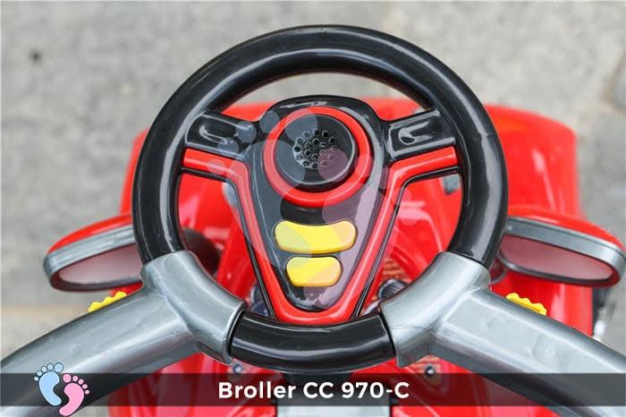 Xe chòi chân Broller CC YH-970C có mái che 5