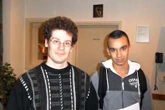 Photo: 25ste Oudejaars sneldamtoernooi van IJmuiden. Gedeeld derde prijs eregroep: Anton van Berkel en Martijn IJzendoorn