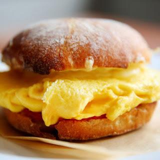 Ciabatta Egg Sandwich With Tomato Jam