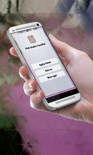 ピンクの色合い TouchPal