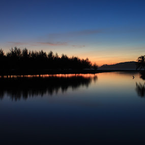 blue sunset by Irfan Andariska - Landscapes Waterscapes