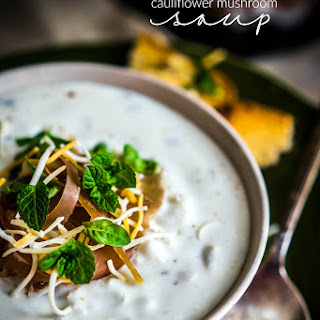 Creamy Cauliflower Mushroom Soup