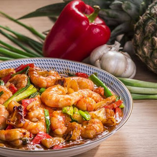 Sweet and Sour Prawns with Caramelized Pineapples Recipe