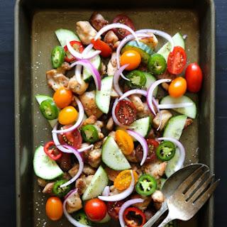 Crispy Chicken & Cucumber Salad with Dijon Vinaigrette