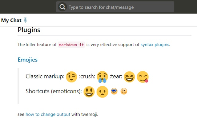 Markdown on Chatwork