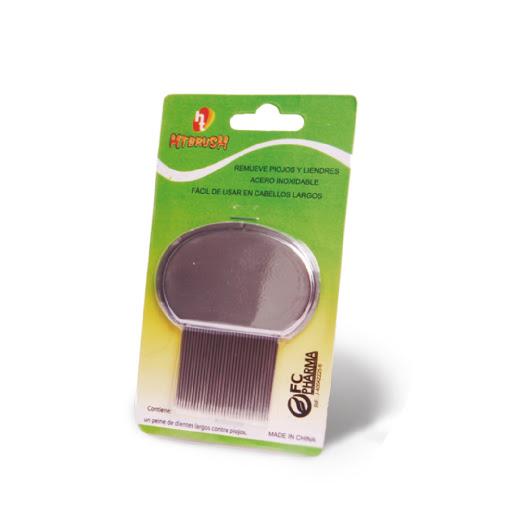 accesorio peine para piojos htbrush acero inoxidable