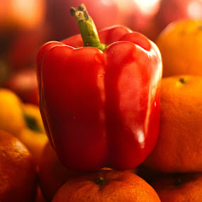 red and orange by Mukesh Kumar - Food & Drink Fruits & Vegetables