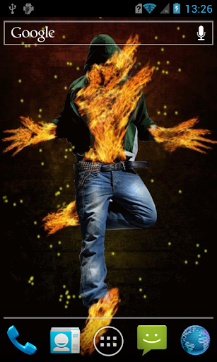 Stylish fiery guy Live WP