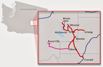 Photo: Columbia Basin Railroad Map