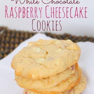 White Chocolate Raspberry Cheesecake Cookies.