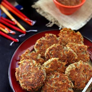 Healthy Baked Latkes – Gluten-Free + Vegan
