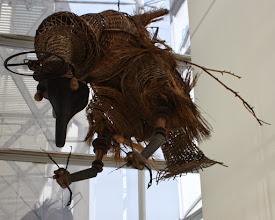 "Photo: Antonio Berni El pájaro amenazado, de la serie ""Los monstruos cósmicos"". 1965. Expo: Antonio Berni. Juanito y Ramona (MALBA 2014-2015)"