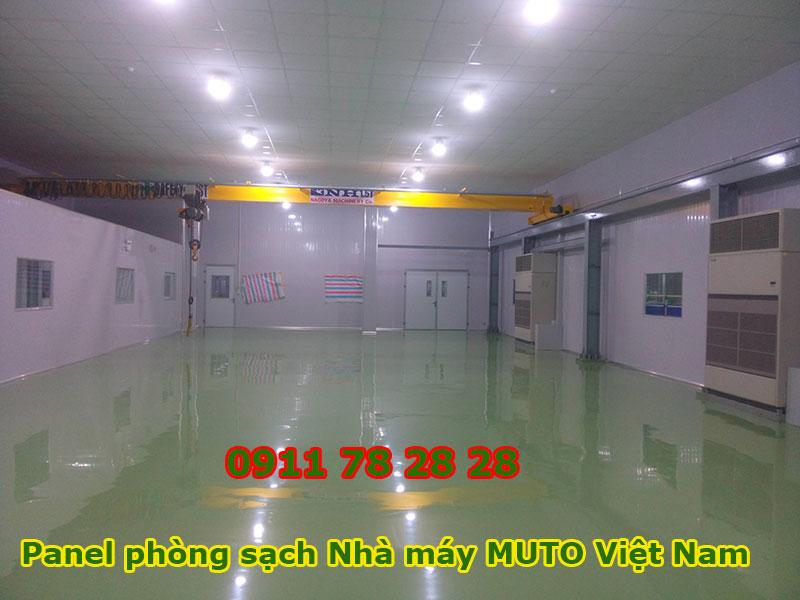Panel Phòng Sạch Nhà Máy Muto Việt Nam
