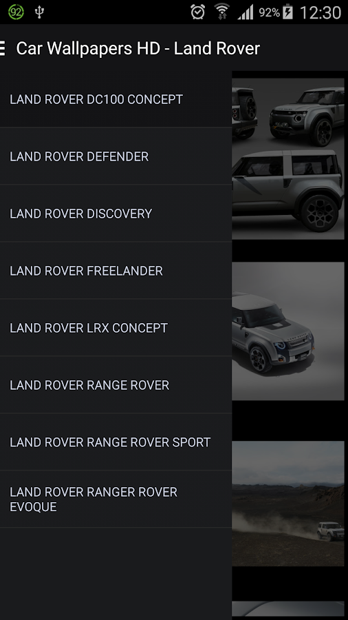 car wallpapers hd land rover android apps on google play. Black Bedroom Furniture Sets. Home Design Ideas