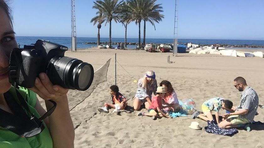 Actividades en la playa en la escuela de Verano Programa Integral de InterActúa.