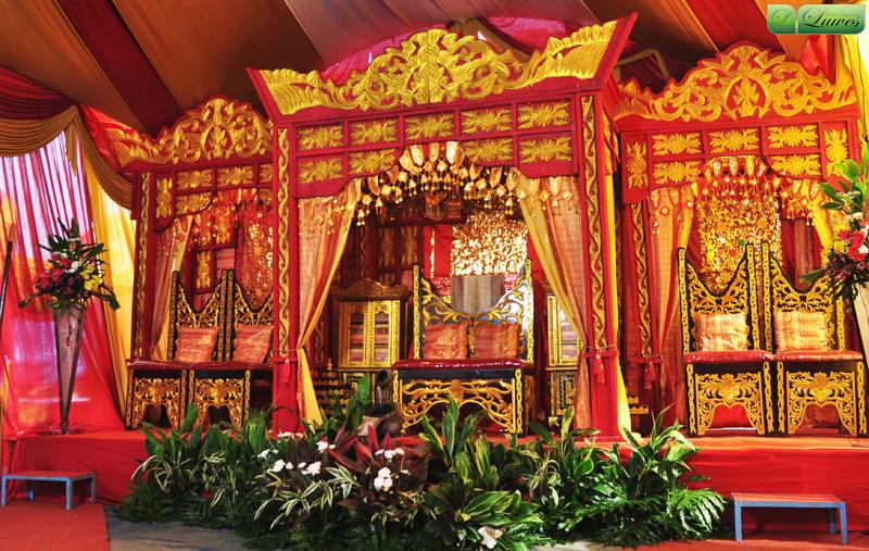 pelaminan adat palembang Indonesia