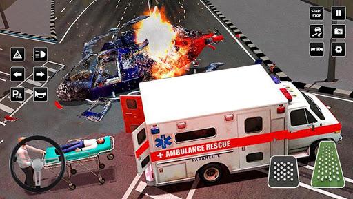 Heli Ambulance Simulator 2020: 3D Flying car games 1.12 screenshots 2