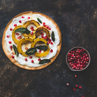 Sweet Delicata Pizza with Honey Yogurt and Fried Sage