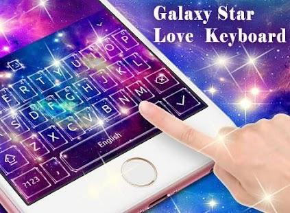 New Galaxy Star Love Keyboard - náhled