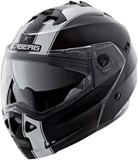 Caberg Casco modulable Duke Legend, color negro/blanco, talla S
