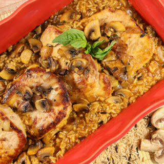 Succulent Pork Chop Casserole with Rice.