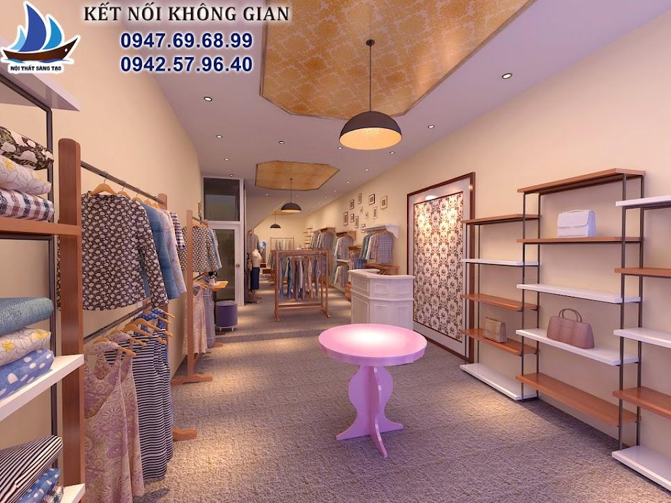 thiết kế cửa hàng thời trang nữ diện tích nhỏ