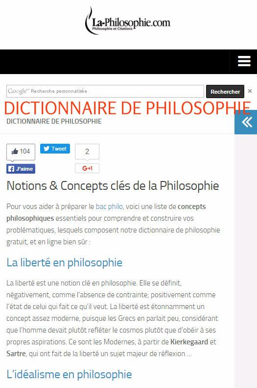 Philosophy in French- screenshot